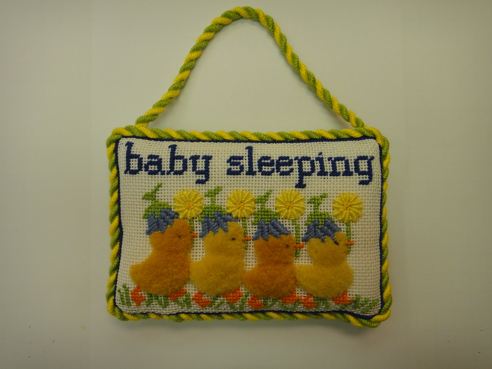 S21A Baby Sleeping with Ducks, Blue