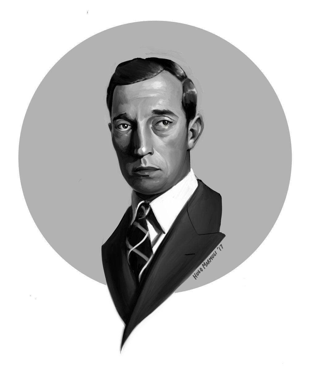 Buster Keaton illustration by the fabulous Hugo Marmugi