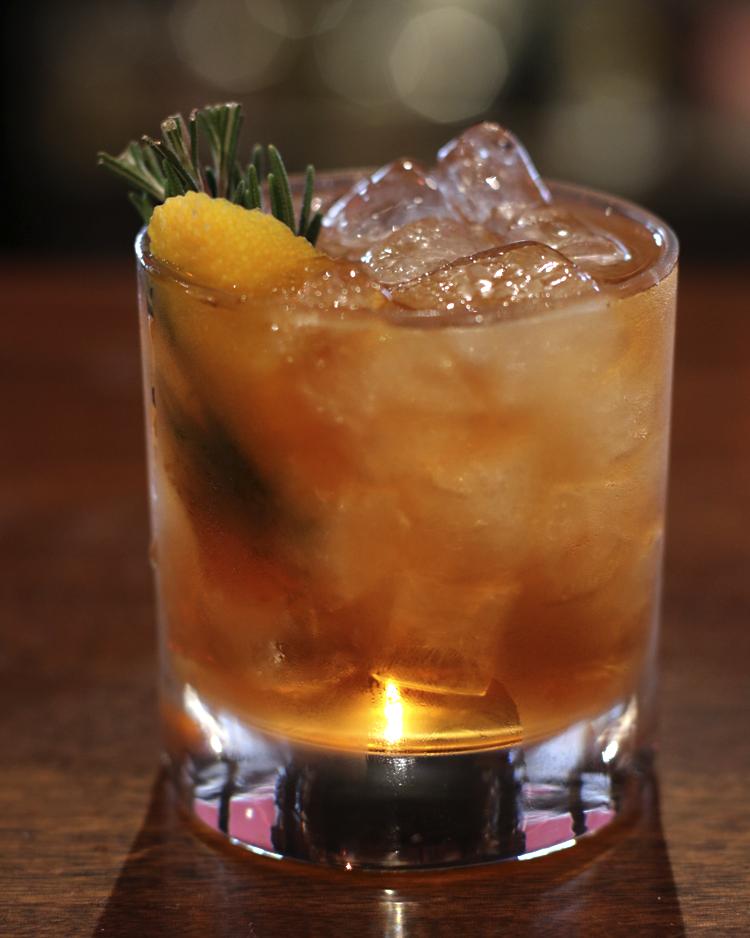 Newfangled  bourbon, rosemary syrup, Angostura