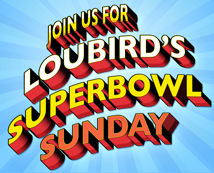 SUNDAY Feb. Mark your calendar and Join us.Party starts at 4pm (all food and alcohol specials). - Game time is 6:30pm. Party goes all night — especially when we win!