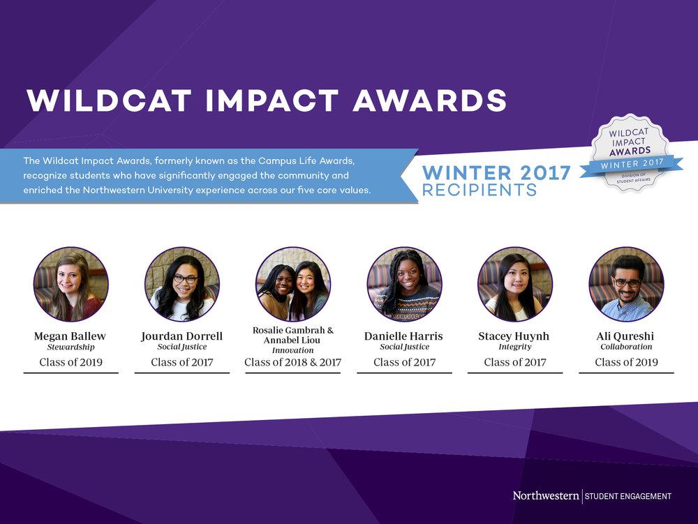 Winter 2017 Wildcat Impact Award