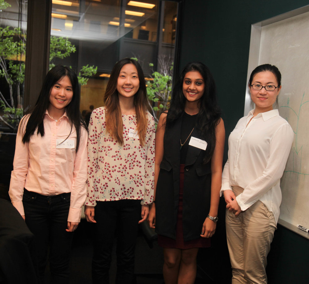 Bella tsai, catherine kang, nupoor desai, and grace xia spent the day together learning about the world of media and marketing.