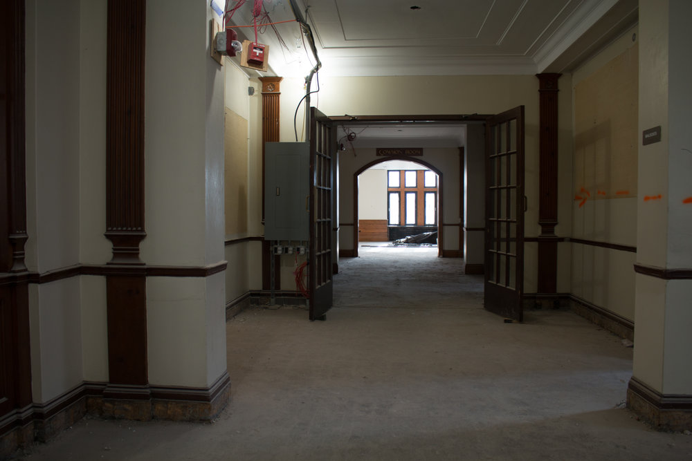 The current interior of Willard Hall