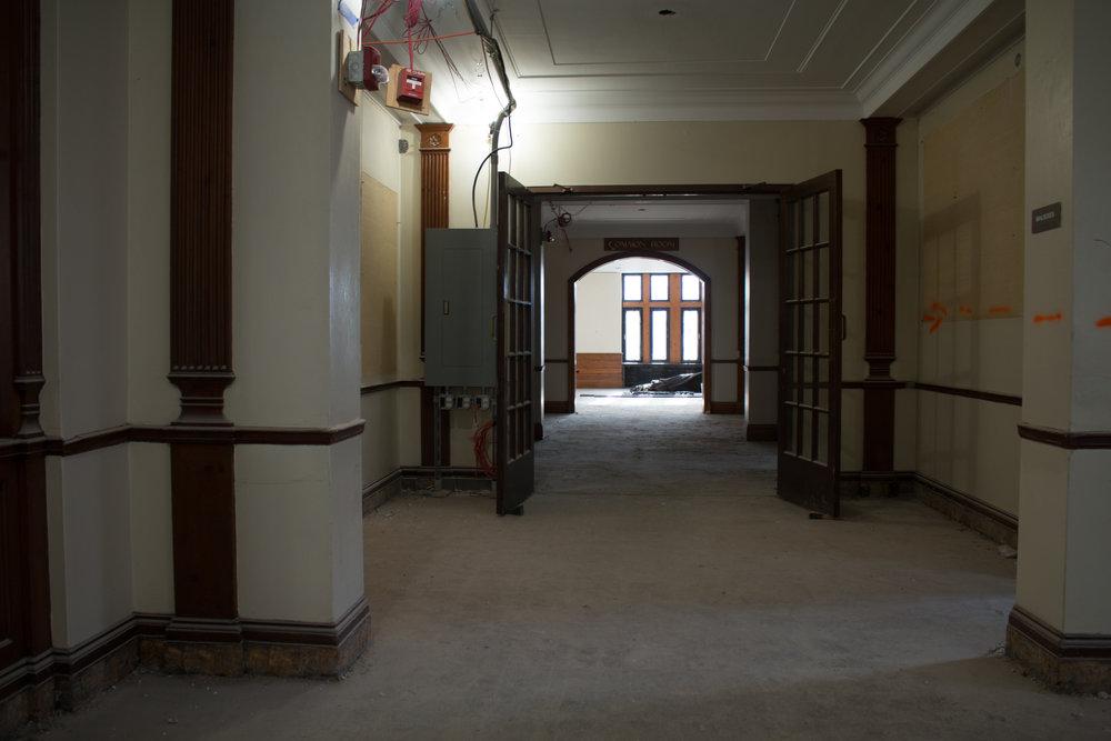 The current interior of Willard Hall