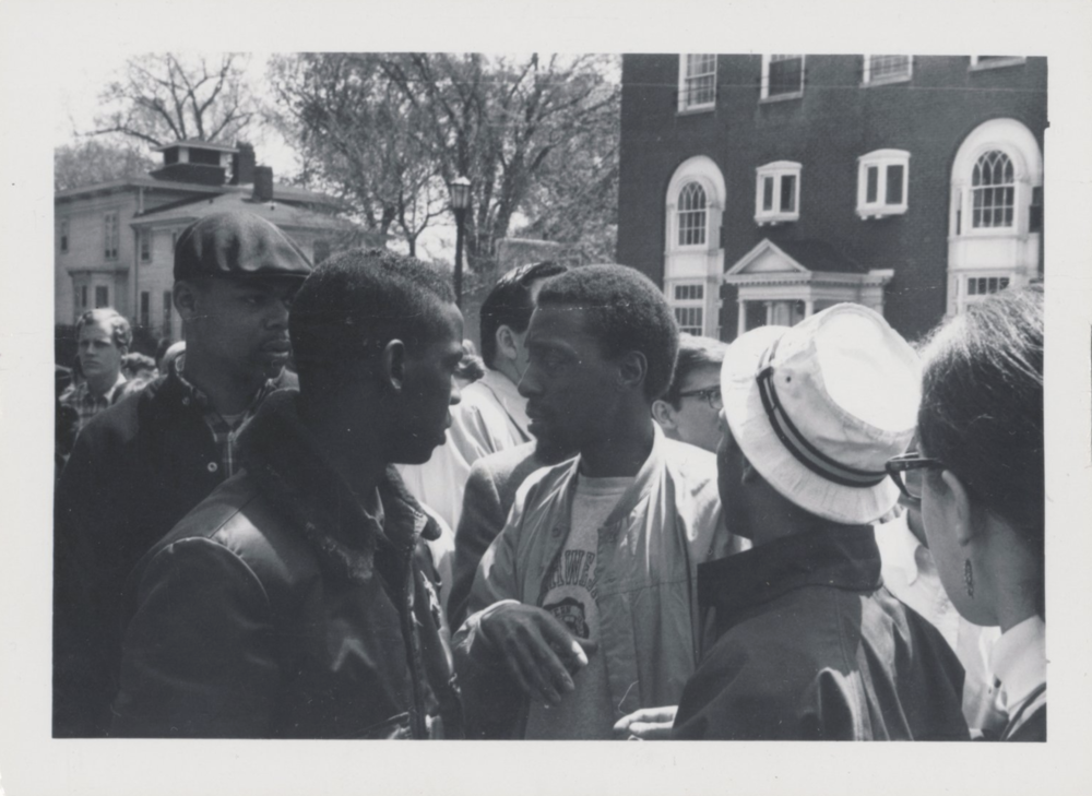 Over 100 Black students crowded the plaza and overtook the Bursar's Office in protest.