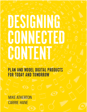 Coming soon to your favorite bookseller: Designing Connected Content