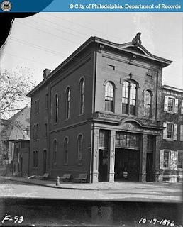 Engine House No. 5    37th and Ludlow Streets, 1896, on the footprint of the current church parking lot