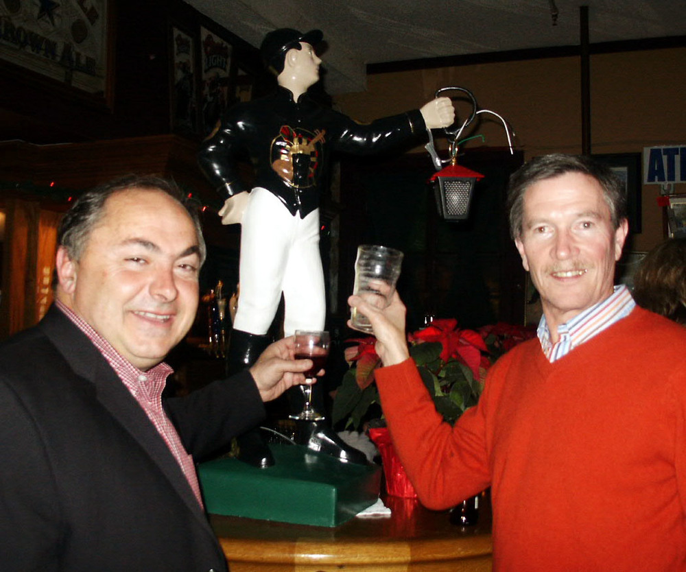 Christmas 2006 Tom and PGR member Mike Duffy with Jockey.jpg