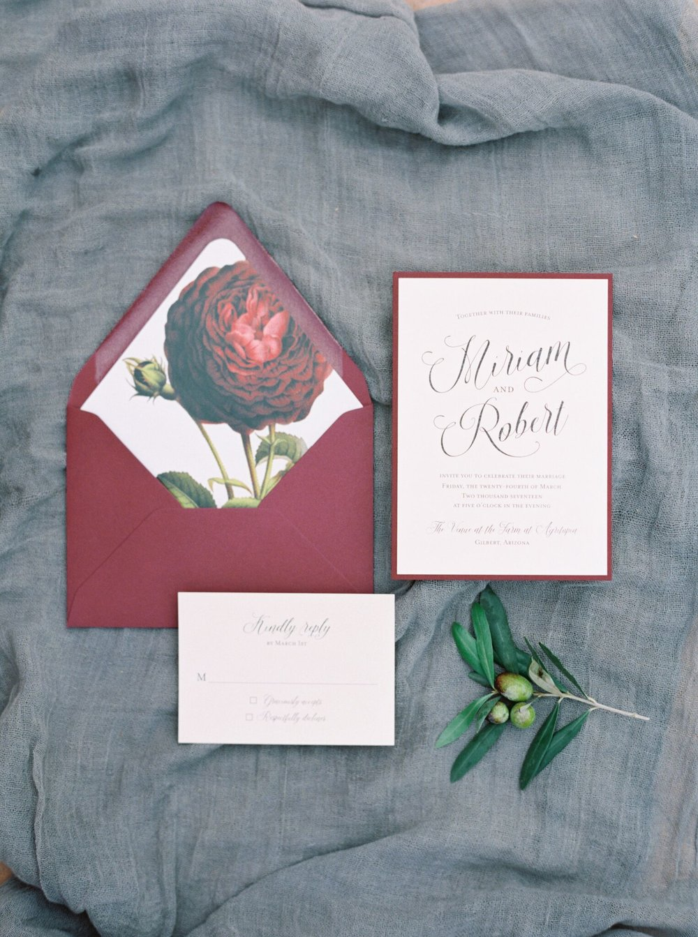 Miriam and Robert Invitations