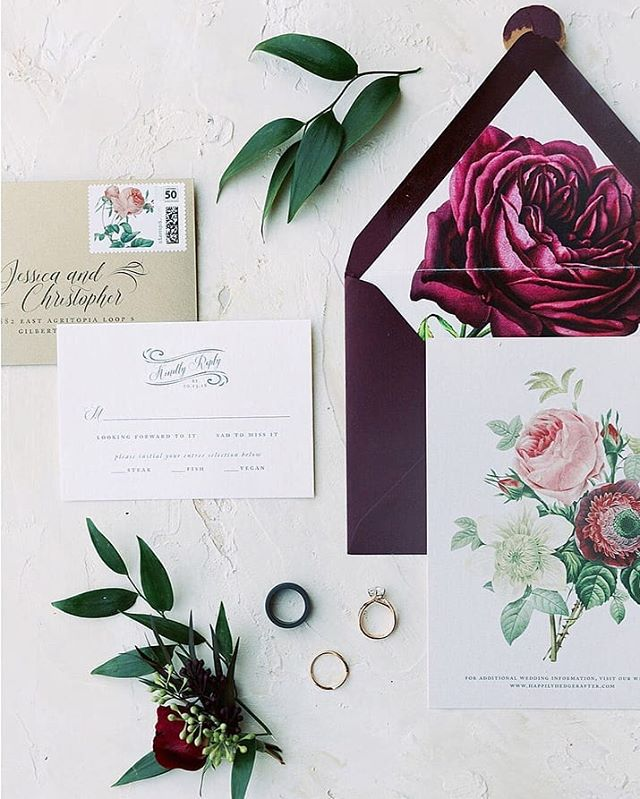 The details are what set your wedding apart from the rest. Each suite is created with the couple in mind so that no two are the same. Your love and your sorry is unique and we work together to create something magical just for you. . Planning + Florals @bloomandblueprint Photographer @andrewandada  Venue @chateaudevie . #vintagewedding #floralwedding #botanicalillustration #phoenixwedding #azweddings #azwedding #bbsquad #bridezona #scottsdalewedding #bespokeinvitations #customweddinginvitations #dailydoseofcolor #dayofdetails #dailydoseofpaper #theknotweddings #weddinginspo