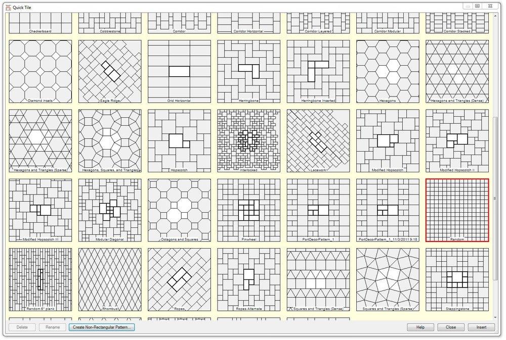 Muchos patrones listos para ser utilizados