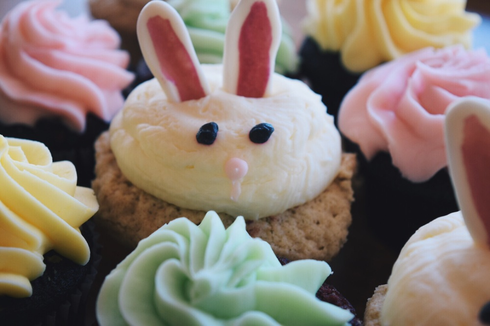 Easter bunny cakes with ears and all! We'll start having these at the bakery and Farmers markets as Easter approaches but you're welcome to special order them in advance!