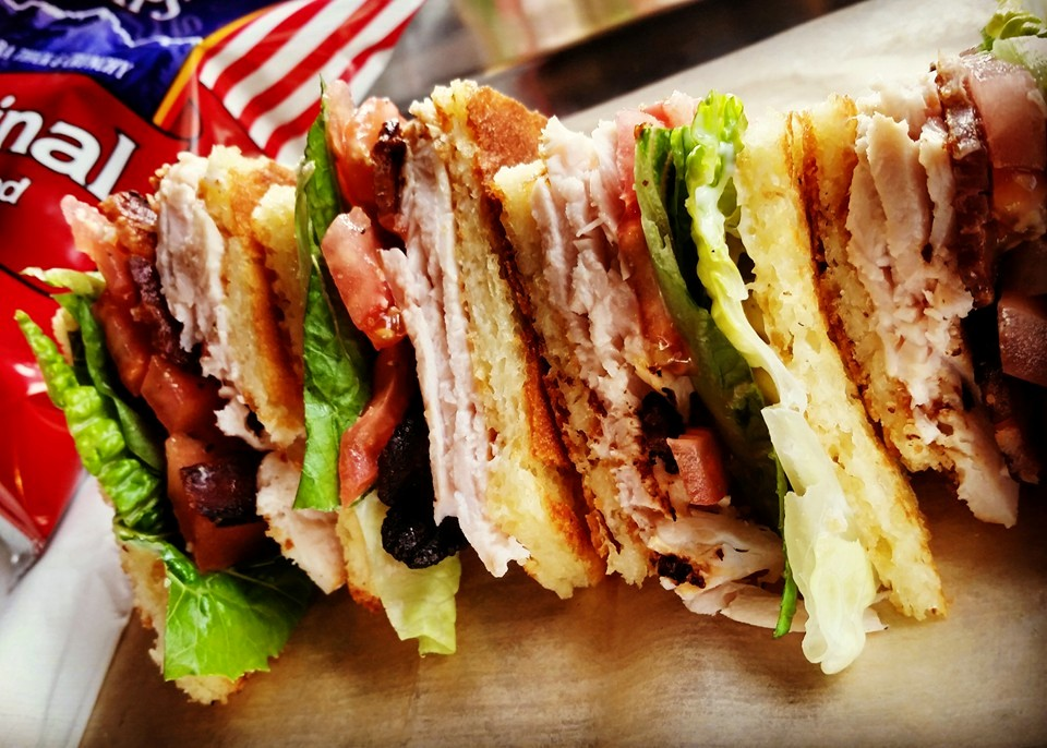 Niche's club sandwich with candied bacon! Find updates to their menu on facebook