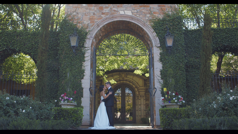 Entrance to Villa Siena in Phoenix, Arizona. Wedding Video frame grab.
