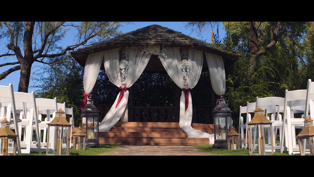 La Mariposa wedding gazebo