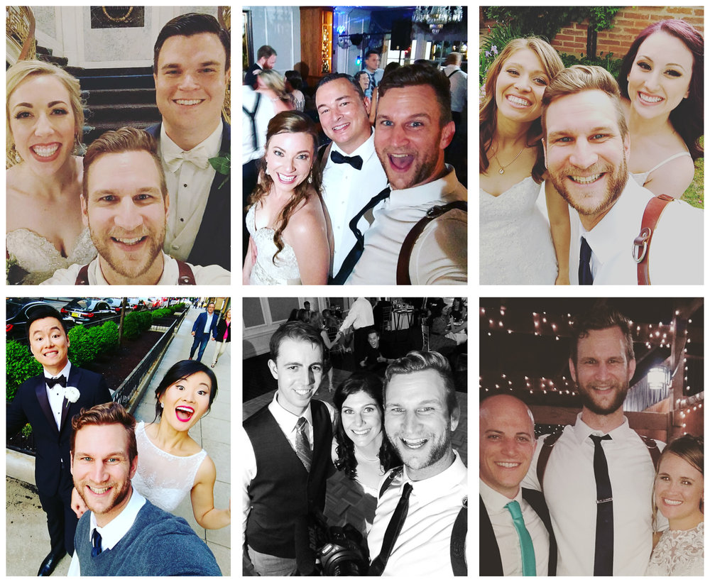 Wedding filmmaker selfies with couples!