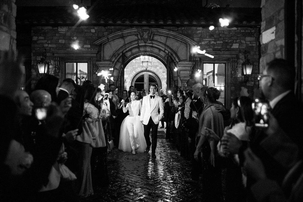 villa siena wedding sparkler exit scottsdale
