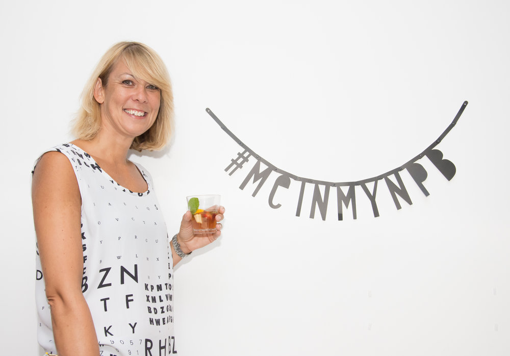 Jacqui in her Eye Test Summer Top at the NPB 4th Birthday party