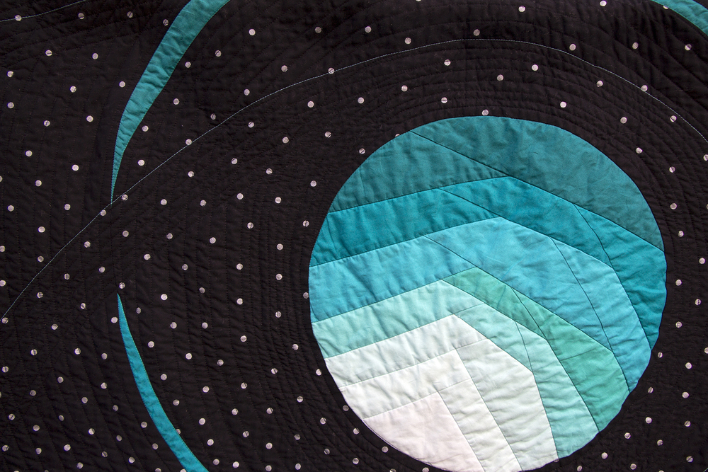 Detail Shot of November Nights Featured at Quiltcon 2016