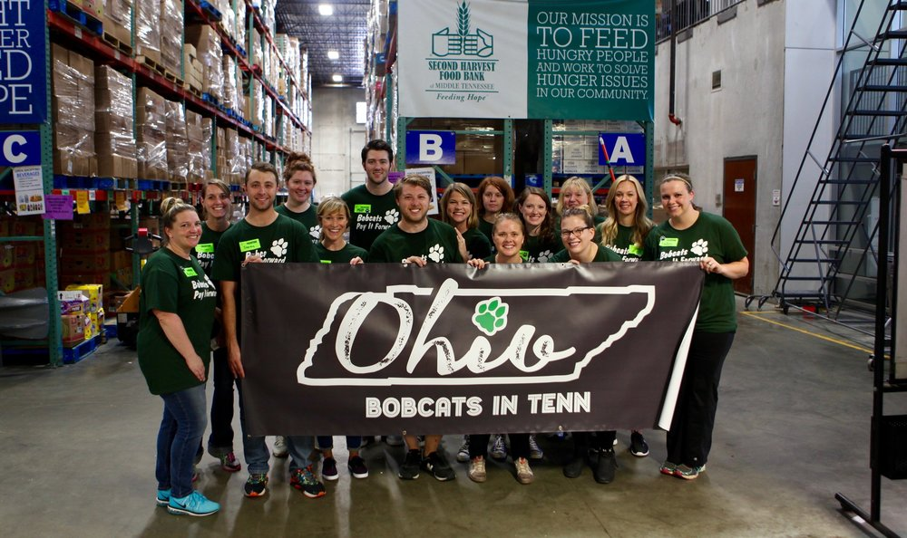 The Ohio Alumni Association Middle Tennessee Bobcats Give Back event from 2016.