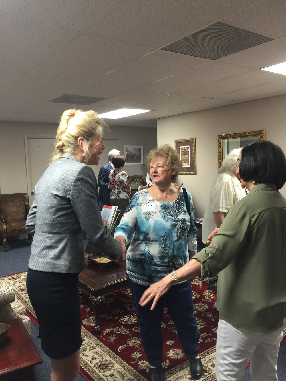 Speaking with the Hillsborough Women's Republican Club, Federated.