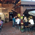 The first day our outdoor patio and bar was open for business!