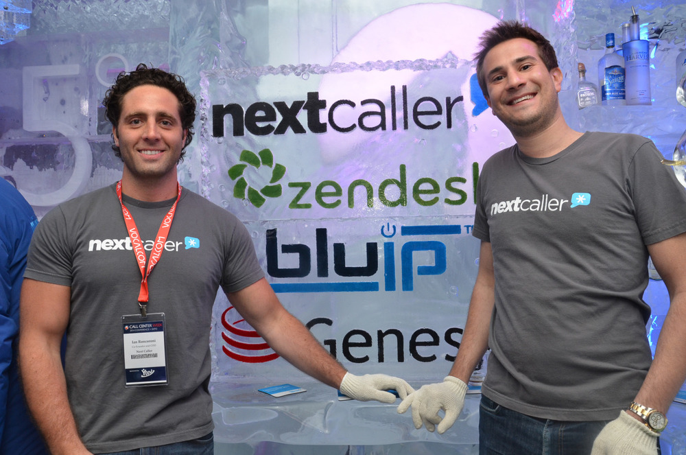 Next Caller co-Founders Ian Roncoroni (left) and Gianni Martire (right) On behalf of the entire Next Caller team, a giant thank you goes out to everyone who attended our Happy Hour event at Call Center Week in Las Vegas, a week ago today! The turnout was so great that we had to extend the event another hour on-site! Thank you for braving the wintry conditions, we're sure the free drinks didn't hurt. A special thank you goes out to the kind staff at Minus 5 Ice Bar, who fulfilled their promise to throw an unforgettable party that everyone was buzzing about (with droopy eyelids) on Thursday morning. We also want to thank our friends at Zendesk, Genesys, and BluIP for co-sponsoring. Not even the house party in Superbad could come close to this. Look out for more photos soon on our blog…some photos will be left offline. -Jeff Kirchick (@JeffreyKirchick)
