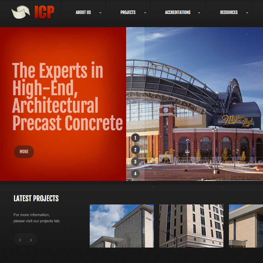 International Concrete Products Website