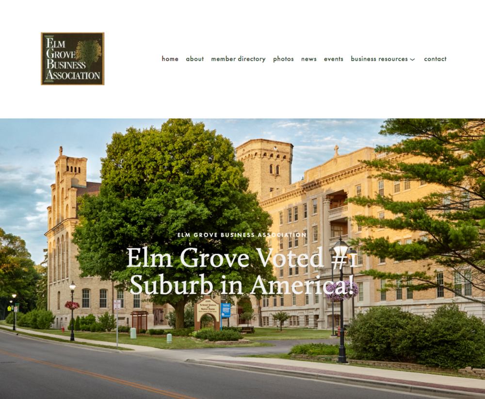 Elm Grove Business Association Website