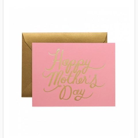 We're getting ready for #MothersDay and love love love this card from @riflepaperco!