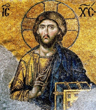 - Christ the Pantocrator; mosaic in the Hagia Sophia, Istanbul, Turkey