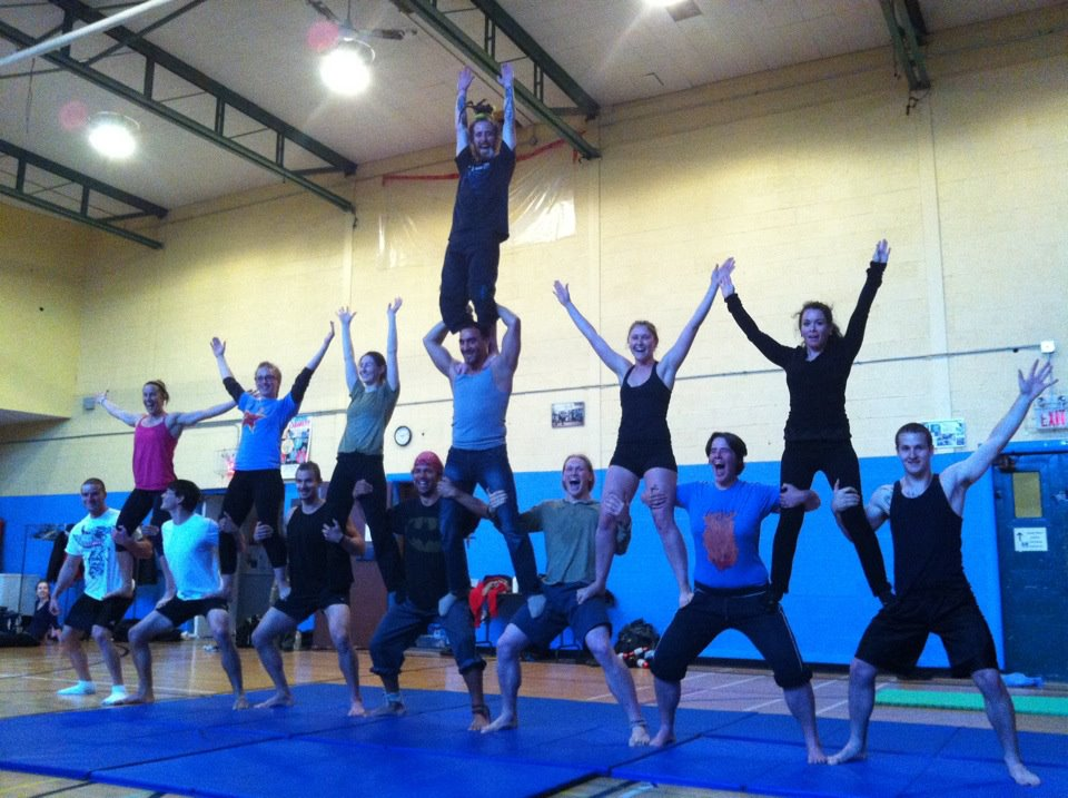 Our acrobatics class in action!