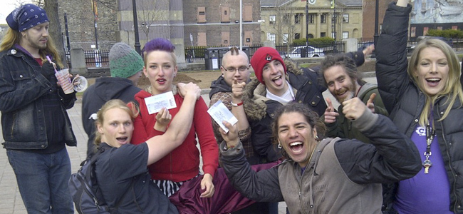 Circus Circle participants when they recieved their Cirque de Soliel tickets!