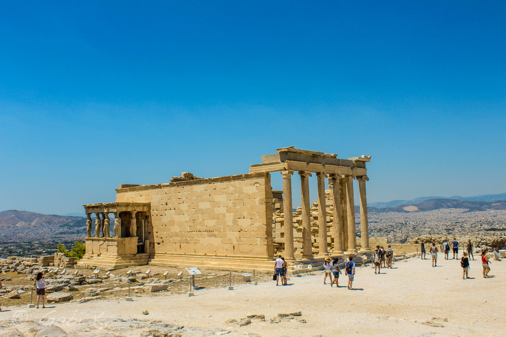 Erechtheum - a temple dedicated to both Athena and Poseidon