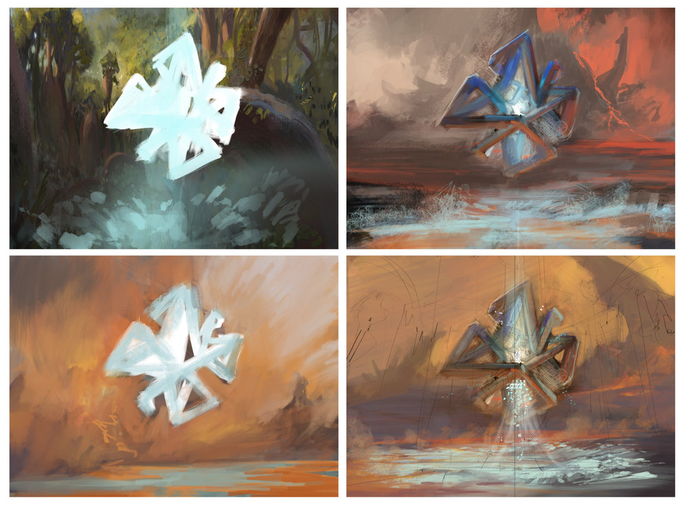 I was toying around with the idea of the manipulator being on the volcanic plains of Shiv or perhaps in the Yavimaya forest. None of these worked, all looked boring and the shape was completely wrong. Hard pass.