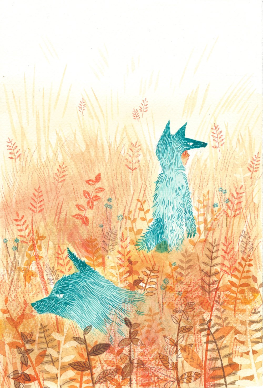 Wolf in Fall