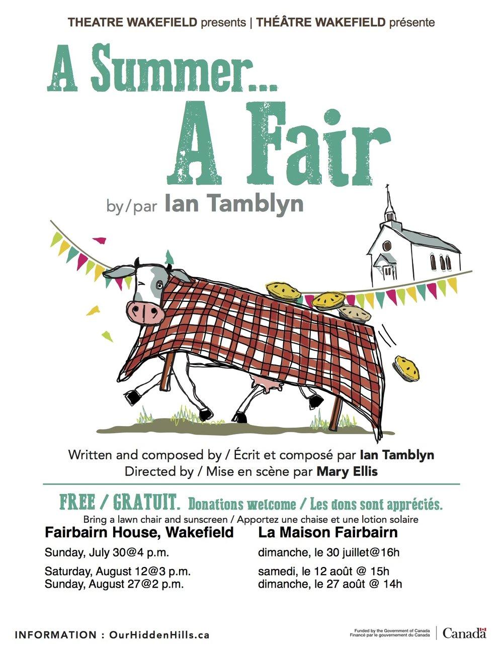 A Summer...A Fair - dimanche le 30 juillet à16 hsamedi le 12 août à 15hdimanche le 27 août à 14 h