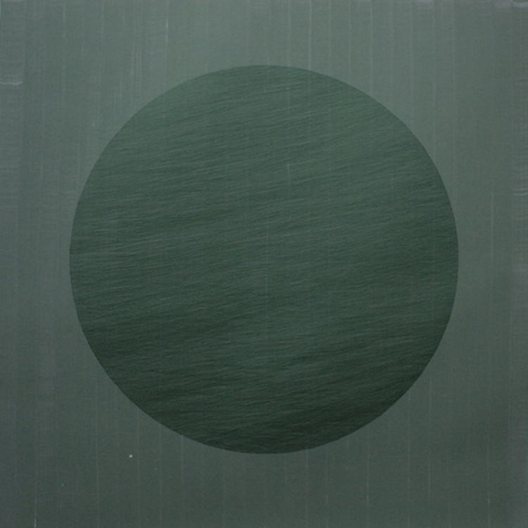 Linn Meyers  Untitled  ,   2005  Acrylic ink on mylar 38 1/2 x 38 1/4 inches