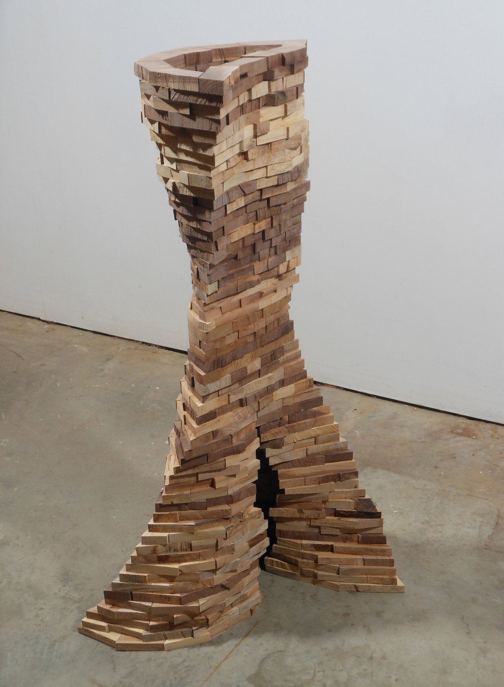 Cava,  2013 Walnut, hickory, and mulberry 44 1/2 x 29 x 16 inches