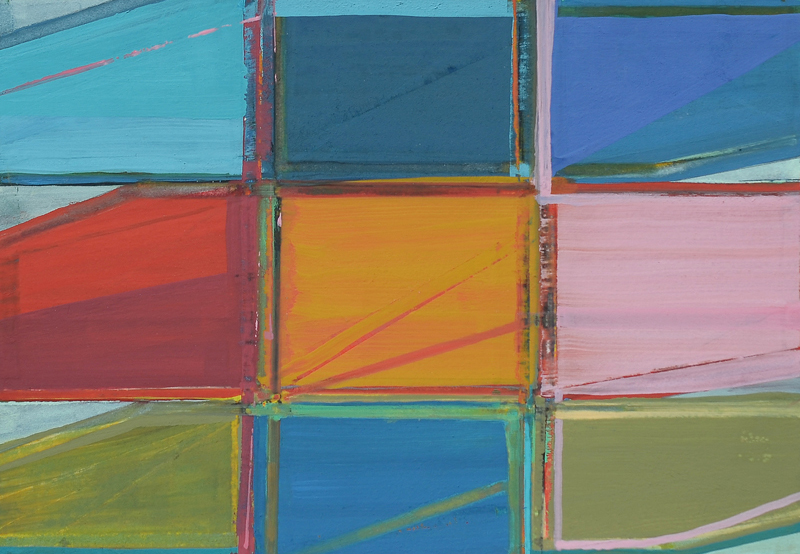Crossings,  2015 Gouache on paper 5 1/2 x 8 inches