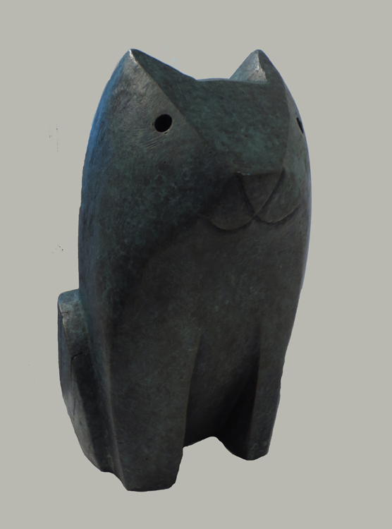 Raya Bodnarchuk  Bronze Cat,  1991 Bronze 12 3/4 x 5 3/8 x 6 1/4 inches