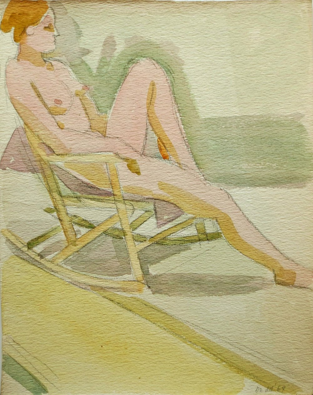 Figure in Rocking Chair