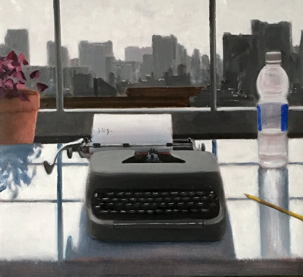 "Joseph Keiffer. ""New York Typewriter,"" 2017, oil on canvas. (Joseph Keiffer/Gallery Neptune & Brown)"