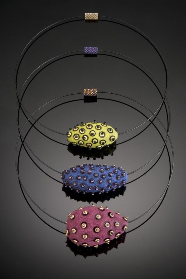 3 Felt Beads