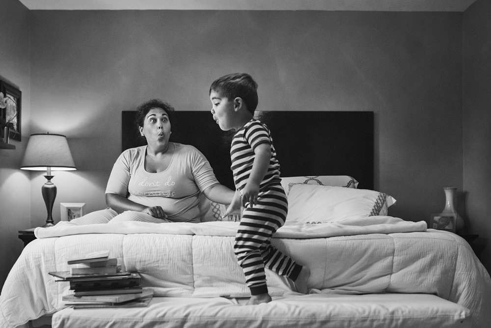 In home family documentary sessions often show how much children mimic their parents, this was very true for this Fort Riley family.