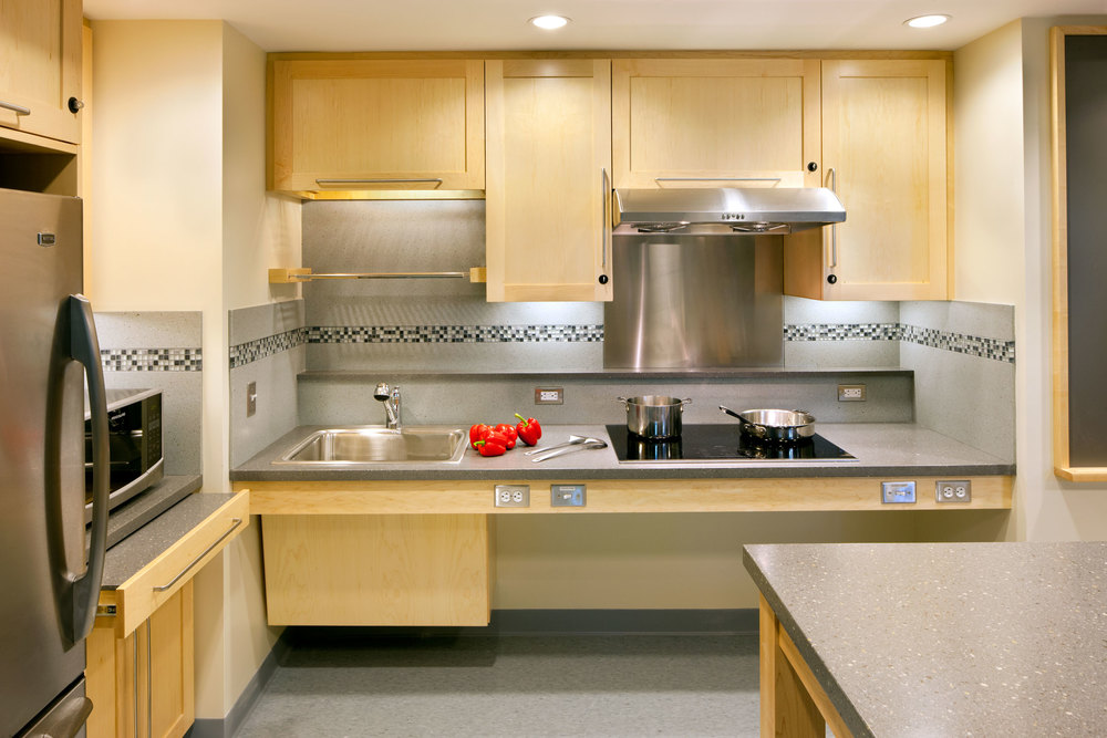 Mit student kitchens cambridge ma hecht and for Accessible kitchen cabinets