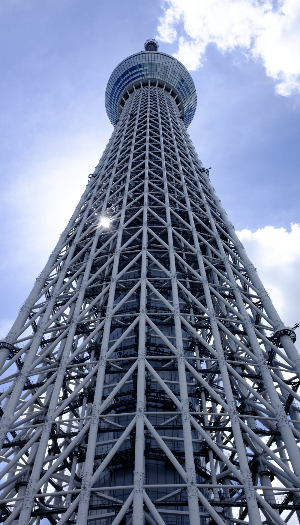 Looking up at the Tokyo Skytree - This was from a separate trip earlier that year when I bought the X100F