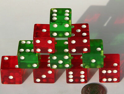 CLEAR DICE | GREEN & RED | (48 Pack) — Chicago City Distributors, Inc.