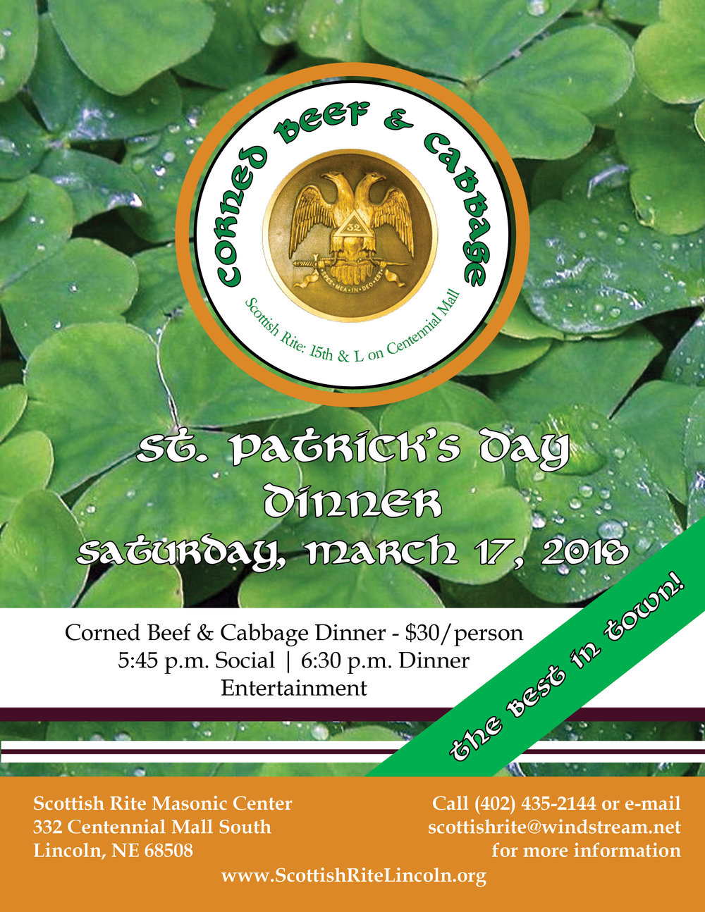 Click above to download a PDF of the St. Patrick's Day dinner flier.