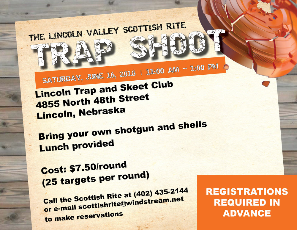 Click above to download a PDF of the Trap Shoot flier